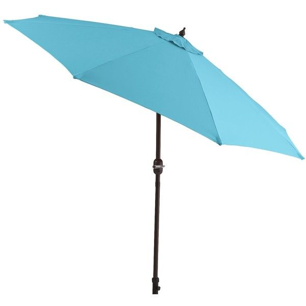 Pier 1 Imports Aluminum 7' Tilting Umbrella ($128) ❤ liked on Polyvore featuring home, outdoors, patio umbrellas, turquoise, tilt patio umbrella, pier 1 imports, outdoor umbrella, outdoor patio umbrellas and aluminum patio umbrella