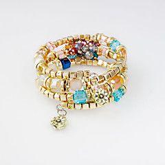 Náramky+Wrap+Náramky+Slitina+Módní+Svatební+/+Párty+/+Denní+Šperky+Dárek+Zlatá,1ks+–+USD+$+7.00