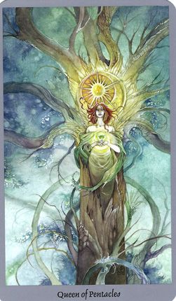 Free+Images+of+Tarot+Cards | Disks-Earth-QueenofPentacles-ShadowscapesTarot