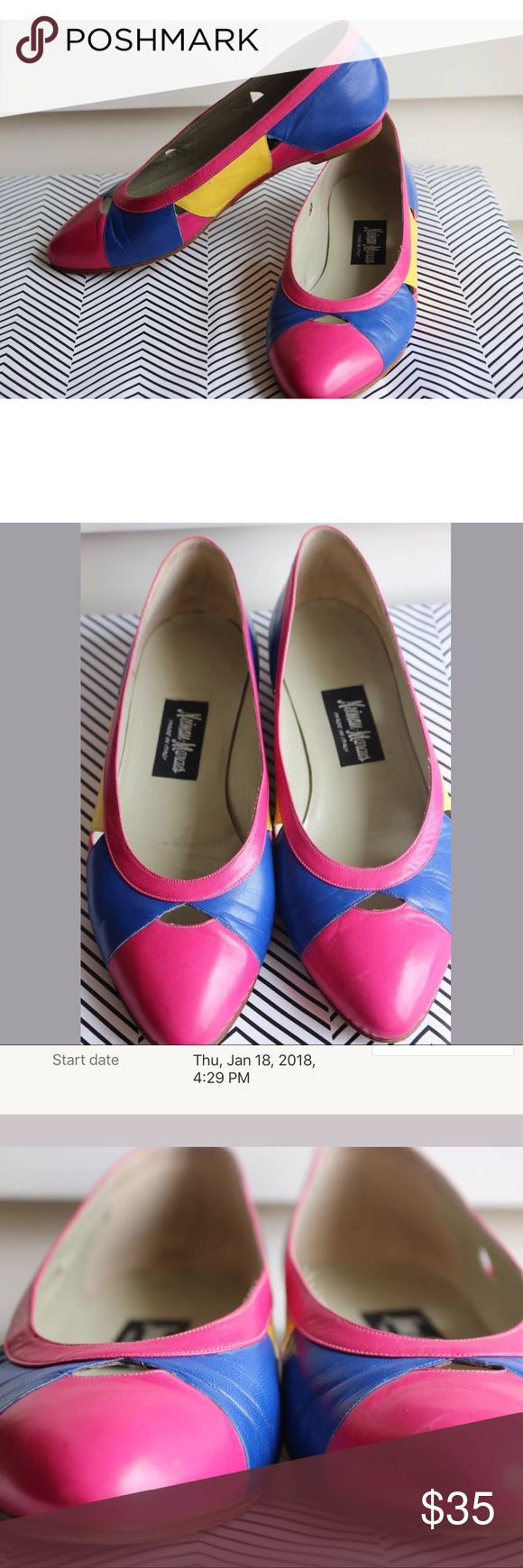 Vintage Neiman Marcus Flats 7.5 Very good condition Neiman Marcus Shoes Flats & Loafers