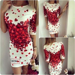 Szexi szívecskés mini ruha
