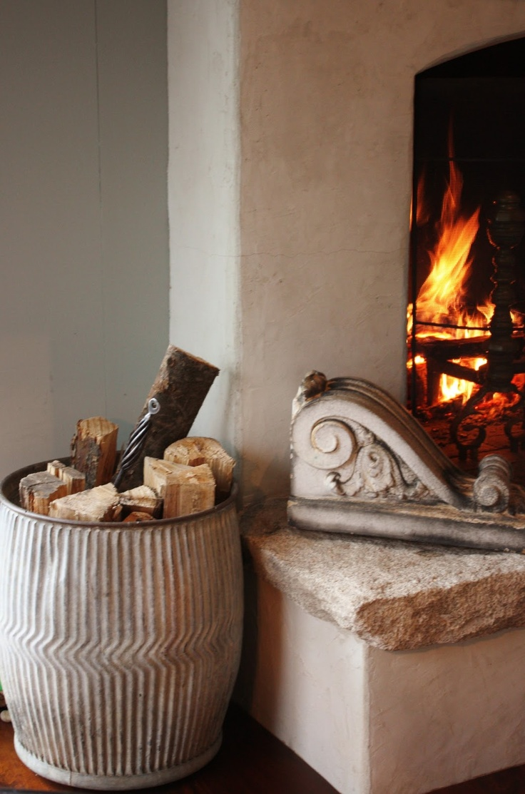 A robust fire creates such ambience.