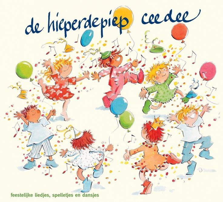 De hieperdepiep ceedee. Kindermuziek en kinderliedjes ♫. Een feestelijke ceedee zijn bekende- én nieuwe verjaardagsliedjes voor 0 tot circa 10 jaar
