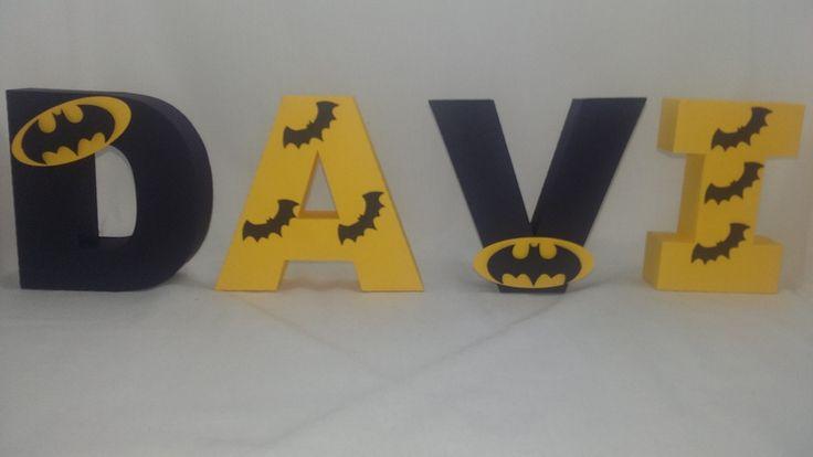Letras 3D, produzidas em papel de scrap 180 gramas. Ideal para decoração de mesa para festa de aniversários, chá de bebê, decoração de quartos, etc. <br>Tamanho médio da letra é de 12 cm.