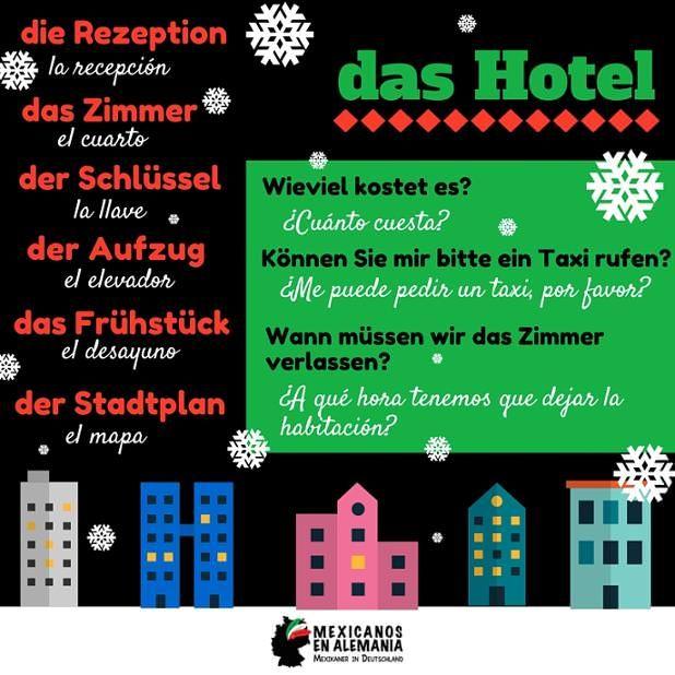 vocabulario #alemán para el #hotel