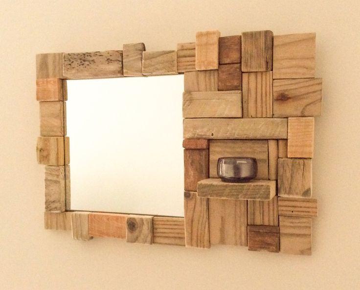 17 meilleures id es propos de miroir en bois flott sur for Miroir bois brut