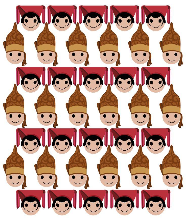 traditional headdress-piece-gear from north sumatra. could be worn/use as couple. this work is available as prints and more via https://society6.com/zaryakiqo #headpiece #headgear #headdress #iconic #traditional #couple #northsumatra #sumatra #indonesia #zarya #art #digital