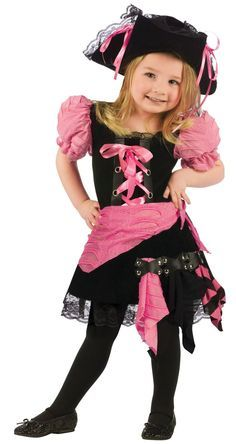 Girls Pink Punk Toddler Pirate Costume