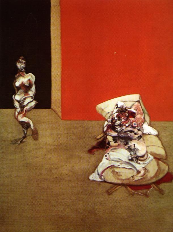 Francis bacon - crucifixion left panel 1965