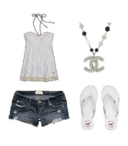 outfits for summer!: Summer Looks, Fashion Ideas, Dreams Closet, Cute Outfits, Flip Flops, Outfits Ideas, Cute Summer Outfits, Necklace, Summer Clothing