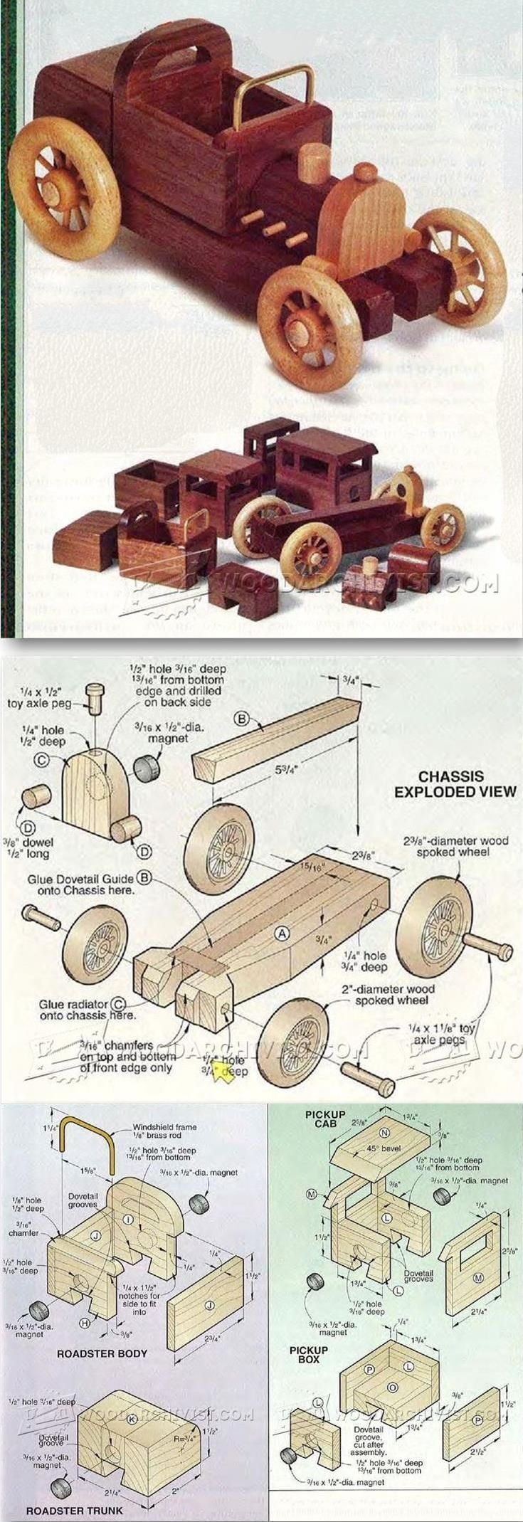 Wooden Toy Car Plans - Children's Wooden Toy Plans and Projects   WoodArchivist.com