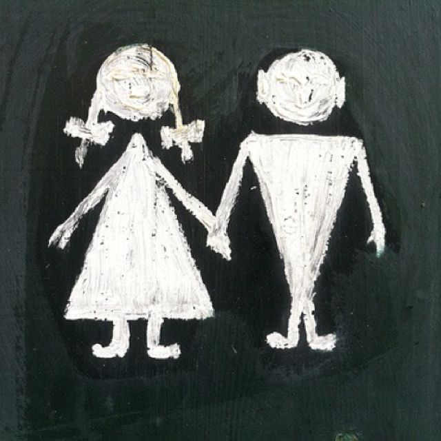 Toilet sign from Corselitze Castle