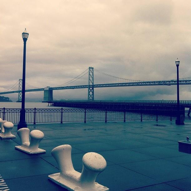 It's the Bay Bridge in the rain.: It S, Bays, Bay Bridge, Bridges, Rain