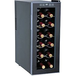 SPT Thermoelectric 12-bottle Slim Wine Cooler | Overstock.com Shopping - The Best Deals on Wine Coolers