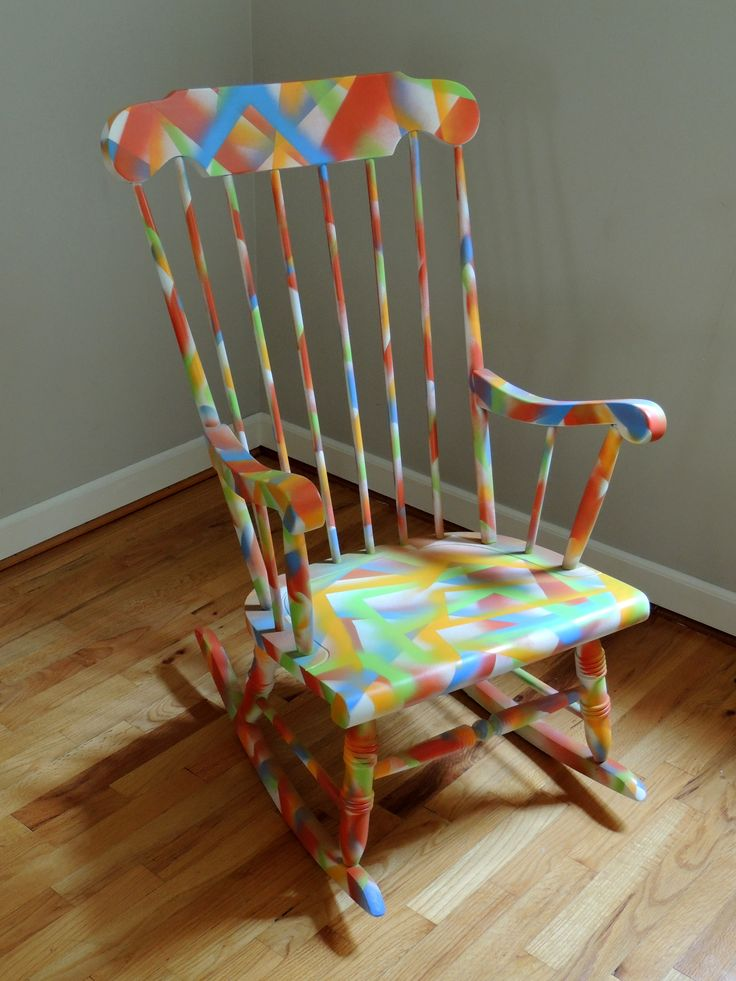 ... Pinterest  Hand painted furniture, Painted chairs and Rocking chairs