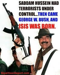 Saddam Hussein  fight against terrorism