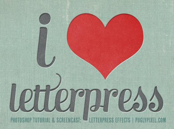 Letterpress photoshop tutorial.