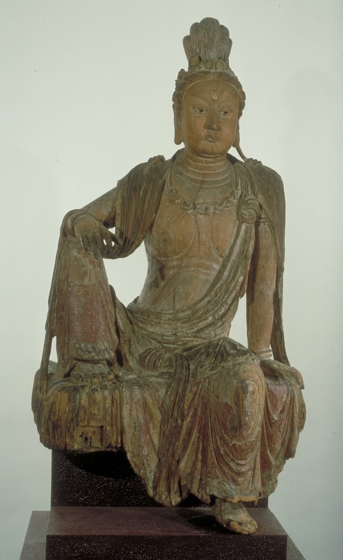 Unknown, Chinese  Bodhisattva Guanyin on Mount Potala, Southern Song Dynasty (1127-1279 CE), early 13th Century  Chinese Sculpture  Wood, polychromy, gold