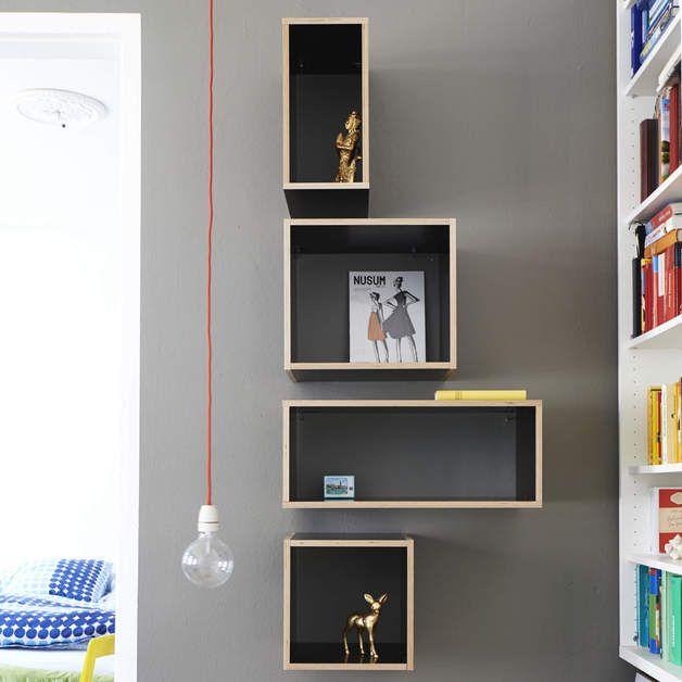 Bücherregale - Designregal - Wandregal The Wall (versch. Farben) - ein Designerstück von bSquary bei DaWanda