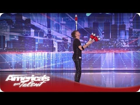 Rock Star Juggler Mike Nails His Trick - America's Got Talent Season 7 A...