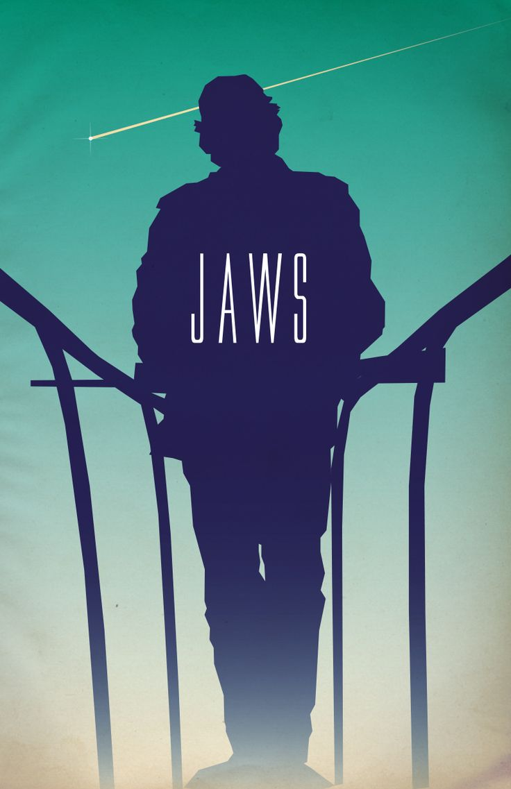 Jaws (1977) ~ Minimal Movie Poster by Benjamin Capazo #amusementphile