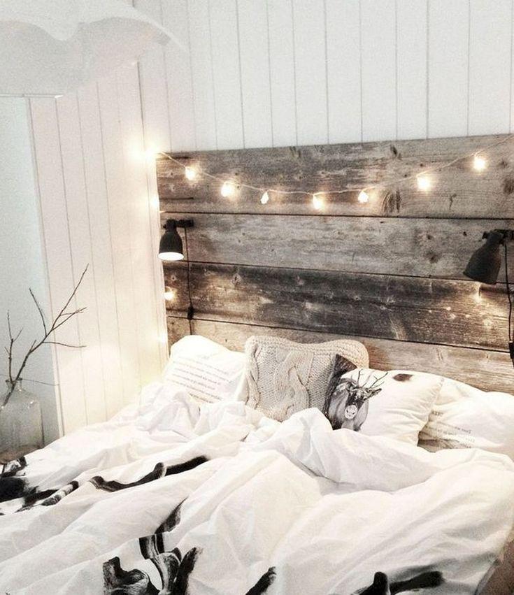 35+ interessante Ideen für die Schlafzimmerdekoration im Winter #bedroom #bedroomdecorating …