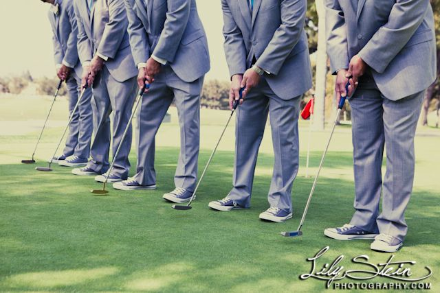Fun Groomsmen Photo - Golf Country Club Wedding