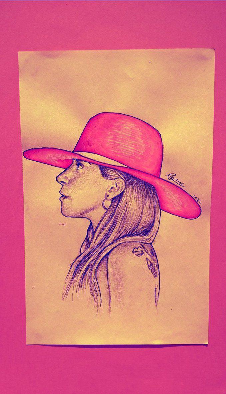 Lady Gaga // Joanne #ladygaga #joanne #pink #art #artwork #draw #drawing #girl#colorpencil #pencil #pencilart