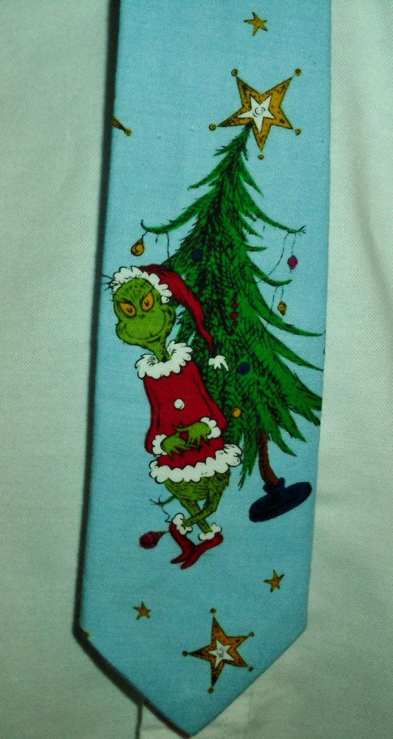 Grinch Inspired Christmas Character Neck tie by parksidewhimsey