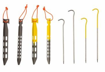 Tite-Lite tent stakes are high quality and durable titanium tent stakes. They come in V and Hook models.