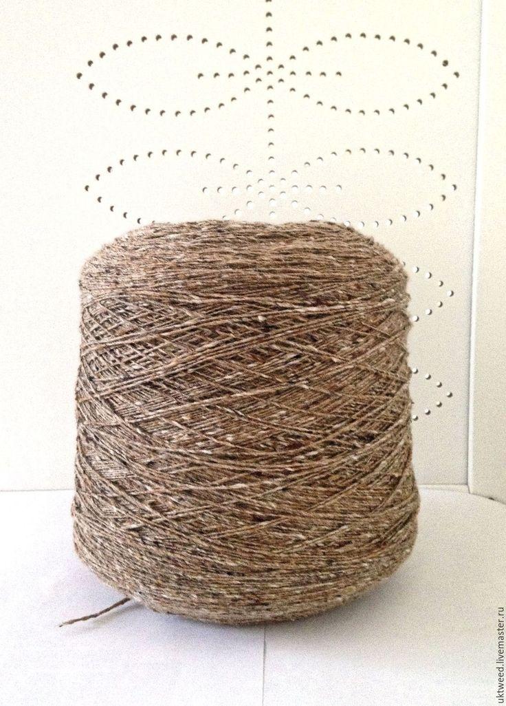 Купить Пряжа Меринос Твид (Soft Donegal Tweed) -100% меринос - бежевый, пряжа