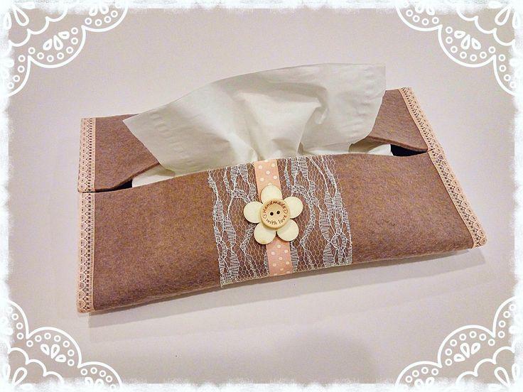 Porta fazzoletti  in feltro senza cucire e senza scatola