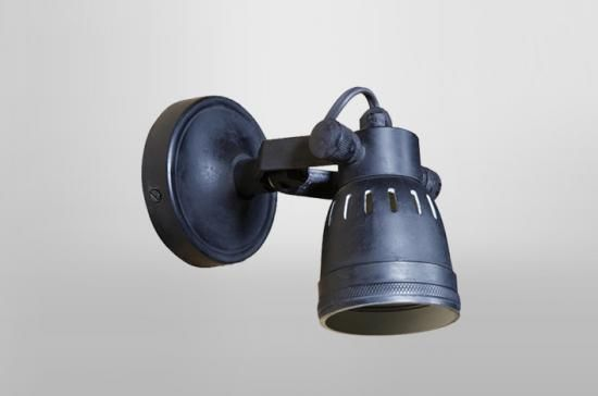 £90 7cm light Single blacksmith spotlight, Single blacksmith spotlight - Holloways of Ludlow