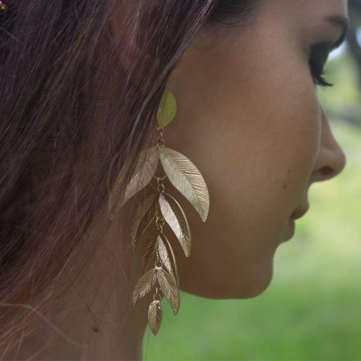 Leaf earrings ;) #clubmanhattan Photo credit: Raquel Tiago