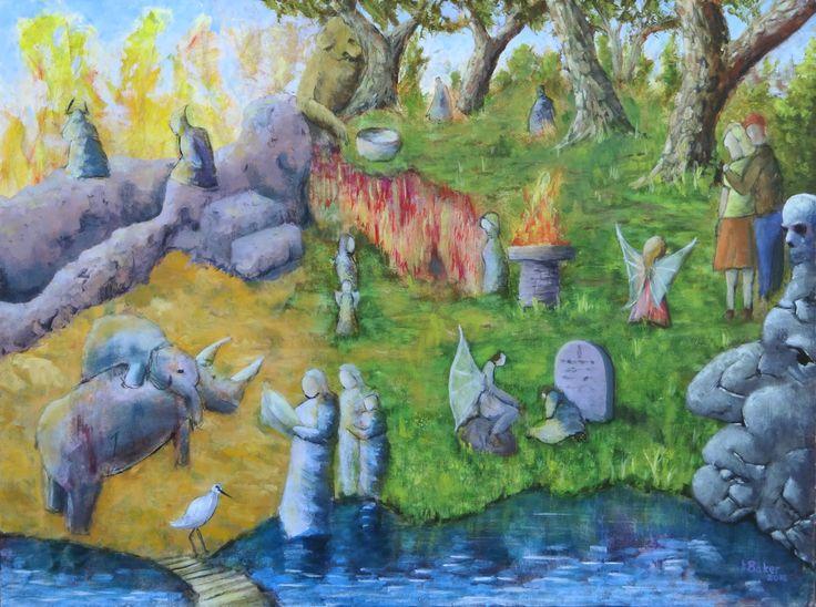 """Along the way"", acrylic on canvas, 40x30""."
