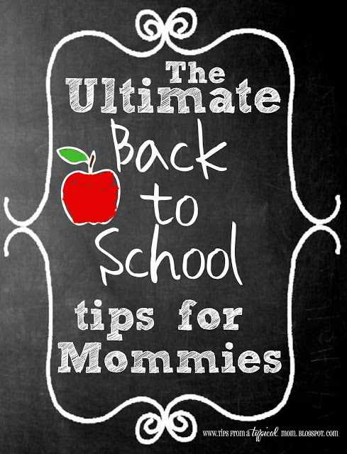 {The Ultimate} List of Back to School Tips for Mommies.  This post has TONS of FREEBIES listed and great ideas for Back to School traditions.  Includes ideas for getting back a sleeping schedule, school lunches, after school snacks etc... #backtoschool #schoollunches #freebies