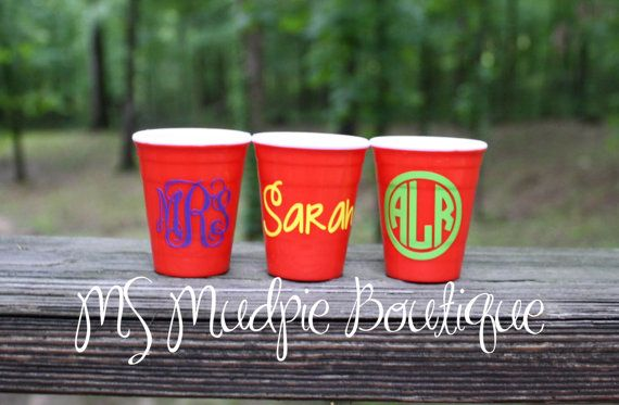 Red Solo Cup Acrylic Shot Glass Solo Cup Shot by MSMudpieBoutique