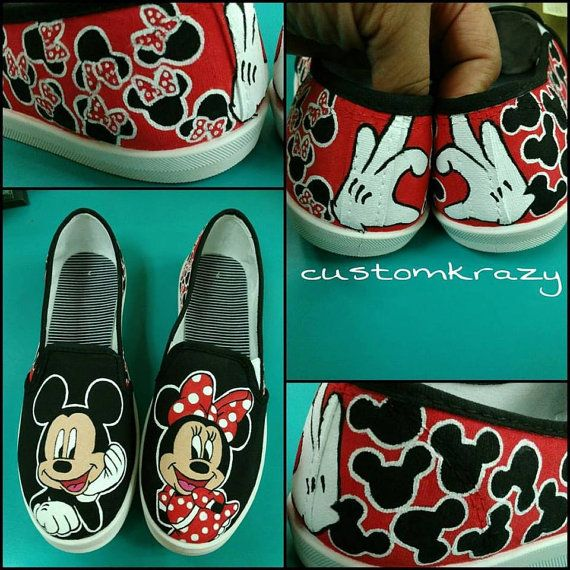 a2fb0c102c692a Custom Hand Painted Mickey Mouse Shoes