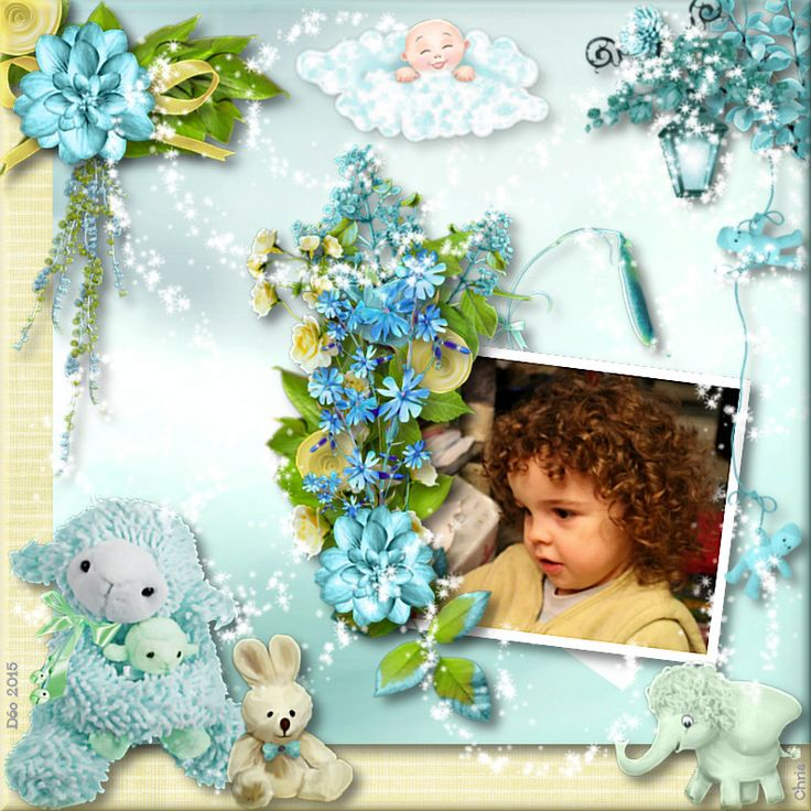 """Kit """"Baby Lou"""" & template by Kastagnette"""