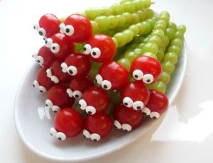 gezonde kindertraktatie fruit rups