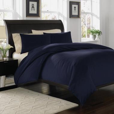Attrayant Royal Velvet 400TC Wrinkle Resistant Duvet/Comforter Cover/Sham Set Navy  Blue