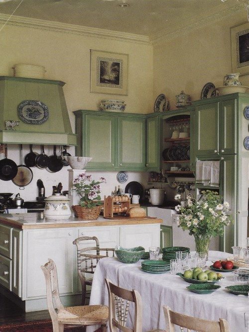 Green British Kitchen!
