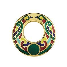 Open Celtic Brooch Large Gold Plated & Multiple Colors Irish Made