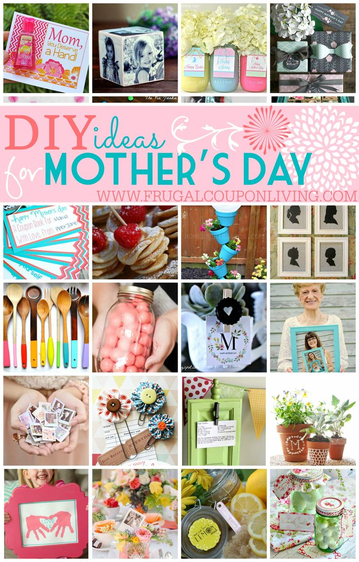 DIY Mothers Day Ideas - Round-Up of Handmade DIY Mothers Day Gift Ideas. Details on Frugal Coupon Living.