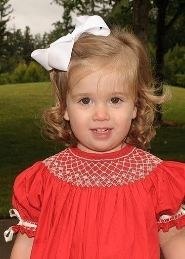 Red Smocked Christmas dress