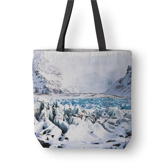 Iceland Tote Bag Winter Landscape Iceland Photography