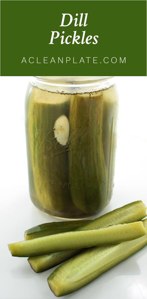 These Homemade Garlic Dill Pickles have all the flavor of store-bought ones and none of the additives! http://www.acleanplate.com/recipe/garlic-dill-pickles/