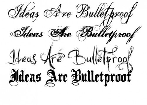 Fancy Tattoo Lettering Styles Letter Type Tattoos