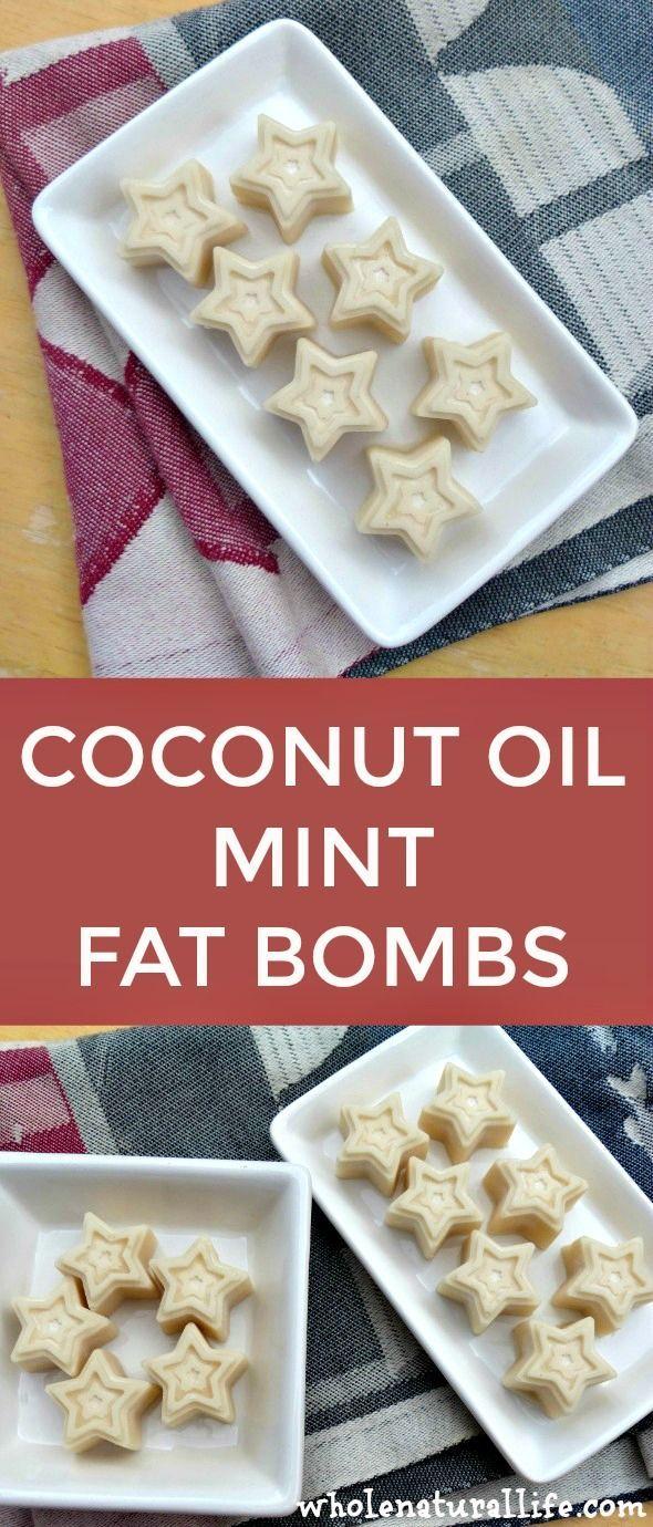 Coconut oil fat bombs | Paleo fat bombs | Coconut oil mints | Mint fat bombs