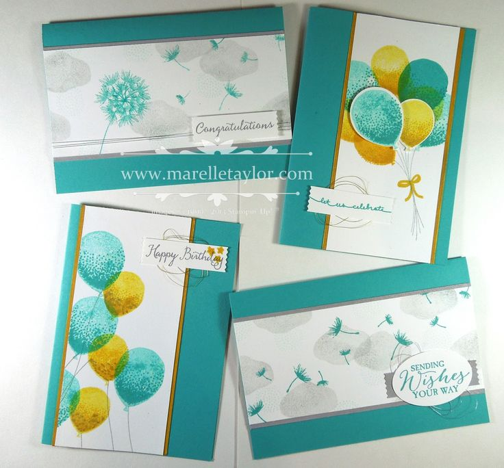 Marelle Taylor Stampin' Up! Demonstrator Sydney Australia: Balloon Celebration Stamp-a-Stack